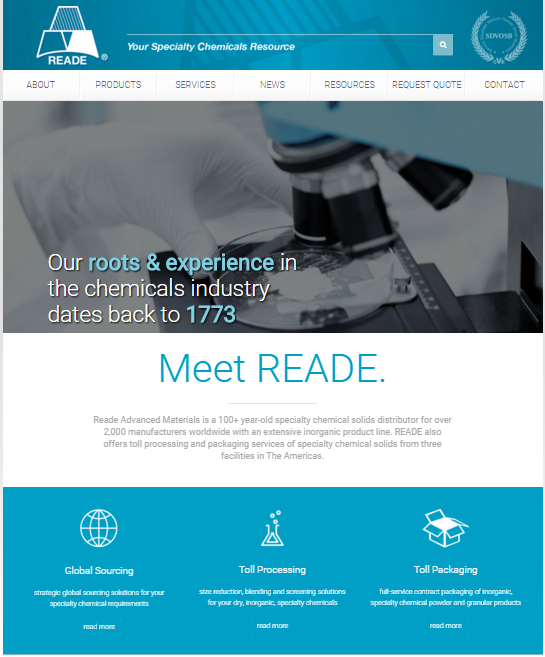 Reade Advanced Materials Unveils Redesigned Website